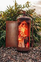 Edelrost Feuerkorb Feuerlöscher