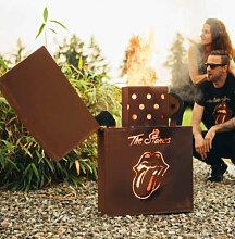 Edelrost Feuerkorb Feuerzeug Rolling Stones