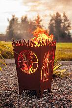 Edelrost Feuerkorb Florian