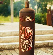 Edelrost Feuersäule Gasflasche Rolling Stones