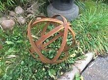 Edelrost Garten Dekokugel aus metall ,30cm, aus