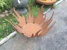 Edelrost , Gartendeko , Feuerschale Pflanzschale