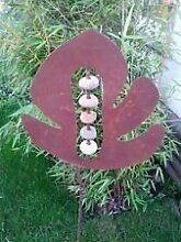 Edelrost, Gartendeko, Gartenkugel, Gartenstecker