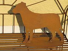 Edelrost Gartenfigur Hund Alex, 40 cm
