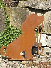 Edelrost Gartenfigur Hund Rocky