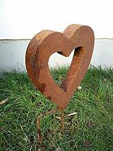 Edelrost Gartenskulptur Herz Rost Garten Figure