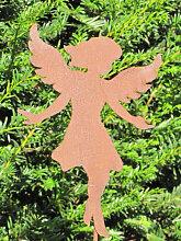 Edelrost Gartenstecker Engel Anny, klein