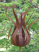 Edelrost Gartenstecker Feuerblume Fiamma, klein