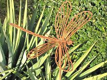 Edelrost Gartenstecker Libelle