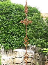 Edelrost Gartenstecker Ornament Kreuz hoch mit