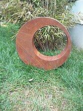 Edelrost Gartenstecker Rost Gartenskulptur aus