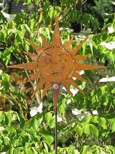 Edelrost Gartenstecker Sonne