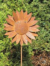Edelrost Gartenstecker Sonnenblume