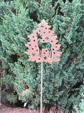 Edelrost Gartenstecker Weihnachtshirsch