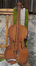 Edelrost Geige 60cm zum Aufhängen Instrument Metall Dekoration