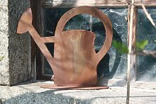 Edelrost Gießkanne zum beflanzen oder dekorieren, Gartendeko aus Metall