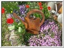 Edelrost Gießkanne zum Bepflanzen Blumenkübel