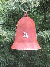 Edelrost Glocke mit Hirsch, 20 cm