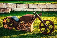 Edelrost Grill Motorrad