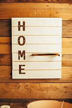 Edelrost-Holz Wandbild Home