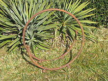 Edelrost Holzkorb Spirale
