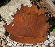 Edelrost Igel zum Bepflanzen Gartendekoration Tierfigur Metall Pflanzgefäß