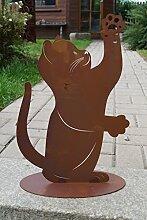 Edelrost Katze Maxi Gartendekoration Haustiere Metall Figur Ros