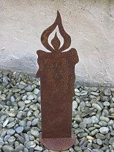 Edelrost Kerze, 25 cm