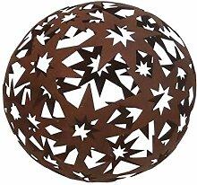 Edelrost Kugel Sterne D18cm Gartendeko Weihnachten