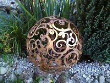 Edelrost Ornamentkugel im Barockdesign 50cm SABK50
