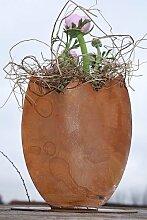 Edelrost Osterei zum beflanzen, Dekoration zu Ostern