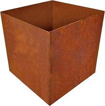 Edelrost Pflanzkübel quadratisch klein