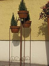 Edelrost Pflanztreppe Wasserhahn inkl. Topf