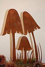 Edelrost Pilze, Dekoration Ideen für den Herbst aus Metall