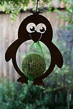 Edelrost Pinguin für Meisenknödel Futterstation Vögel Hänger Gartendekoration