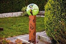 Edelrost Säule Blatt im Wind, Höhe 120 cm