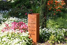 Edelrost Säule Gedicht Garten