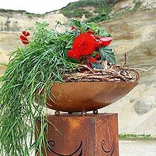Edelrost Schale Rund 49,5cm Deko oder Pflanzschale