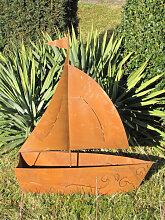 Edelrost Segelschiff mit Ornamenten