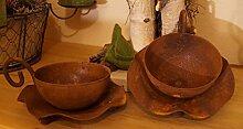 Edelrost Set Teetassen Tischdekoration Bepflanzen Teelicht Tasse 2 STÜCK