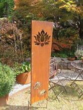Edelrost Sichtschutz Paravent Lotus