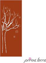 Edelrost Sichtschutzwand Baum Prima Terra
