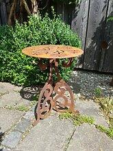 Edelrost Tisch rund, Gänseblümchen