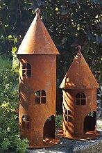 Edelrost Turm klein Höhe 42 cm Gartendekoration