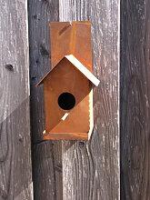 Edelrost Vogelhaus für die Wand