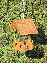 Edelrost Vogelhaus zum Hängen klein