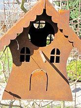 Edelrost Vogelhaus zum Hängen