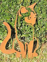 Edelrost Wandbild Katze