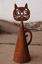 Edelrost Zaunhocker 30cm zur Auswahl Maus Katze