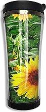 Edelstahl 420 ML Sonnenblumen Gemusterte